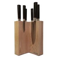 Настольная подставка для ножей Woodinhome KS003SOW дуб беленый